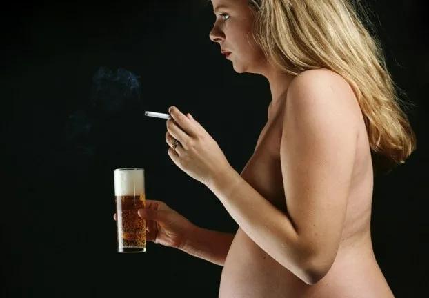 Влияние алкоголя и никотина на развитие плода
